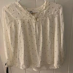 Zara Girls polkadot blouse